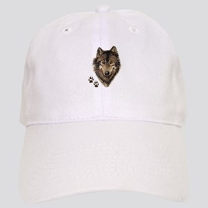 Watercolor Wolf Head Logo & Tracks Hat